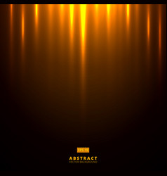 abstract golden lighting on dark brown background vector image
