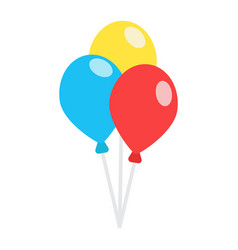 Ballons flat icon party and holiday vector