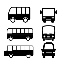 bus service set isolated icons vector image vector image