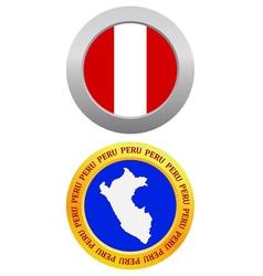 button as a symbol PERU vector image