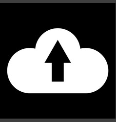 Cloud service the white color icon vector
