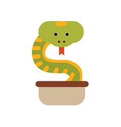 cobra snake coming out of a jug symbol of india vector image