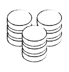 Data center storage two tone button icon image vector