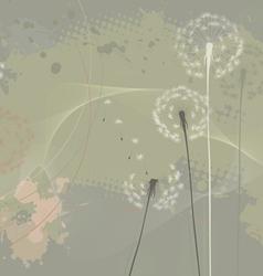Floral background dandelions vector