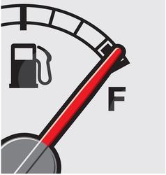 Full gas tank vector