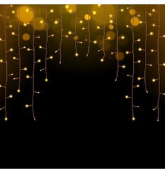 Glowing christmas lights garland vector