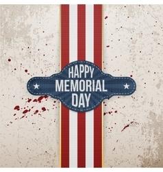 Happy memorial day patriotic banner and ribbon vector
