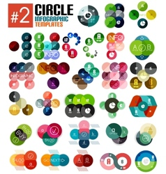 Huge set of circle infographic templates 2 vector