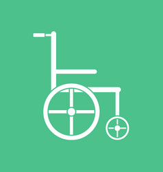 Icon medical wheelchair vector
