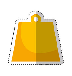 kg weight isolated icon vector image vector image