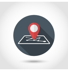 Map pin icon vector image vector image