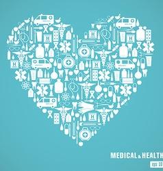 medical heart blue vector image