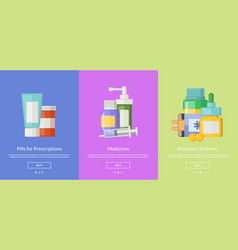 online pharmacy template for buying vector image