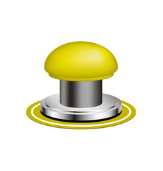 Orange alert push button vector