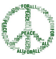 Peace for all white bg vector