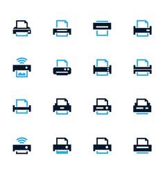 print icons set vector image vector image