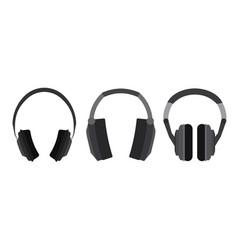 set of flat headphone vector image vector image