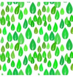 Summer Green Different Leaves Seamless Pattern vector image vector image