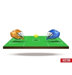 Symbol of lacrosse game on field vector image vector image