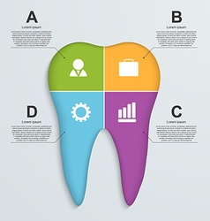 Tooth infographic background vector