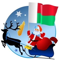 Merry christmas madagascar vector
