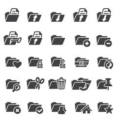 Set of folder icons vector image