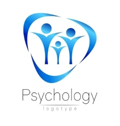 Modern family logo of psychology people in a vector