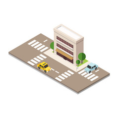 flat 3d isometric urban city infographic concept vector image