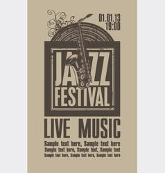 Jazz festival vector