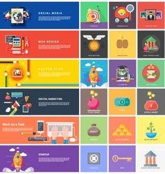 Icons for cash transactions strategy start up vector