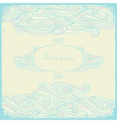 Greeting cards with swirls in a pastel colors vector