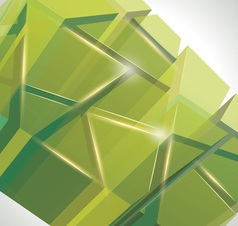 3D glass rectangles abstract background vector image vector image