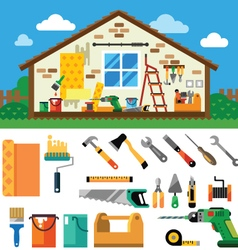 Home repair landscape vector