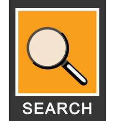 Simple stylish search magnifying glass icon design vector