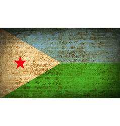 Flags djibouti with dirty paper texture vector