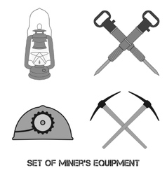 Set from mine tools vector