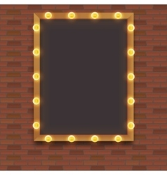 Light bulb frame with space vector