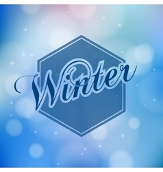 Winter lettering - calligraphy modern vector