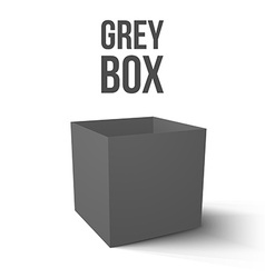 Realistic grey box isolated on white background vector