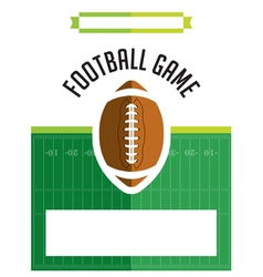 American football game flyer vector
