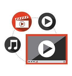 Video player design vector
