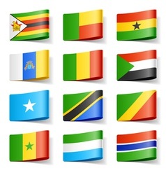 africa flags vector image