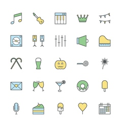 Celebration and party bold icons 2 vector