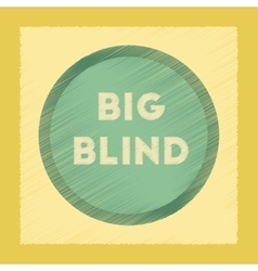 Flat shading style icon big blind vector