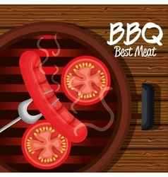 barbecue time best meat vector image vector image