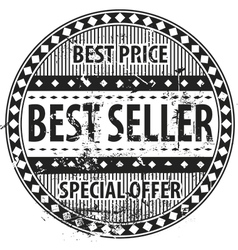Best Seller Rubber Stamp grunge vector image