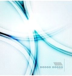Blue glowing abstract background vector image vector image