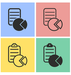 Business report icon set vector