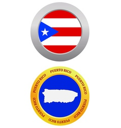 button as a symbol PUERTO RICO vector image vector image