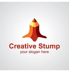 creative stump logo vector image vector image